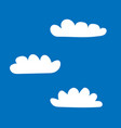 clouds set sign 405 vector image