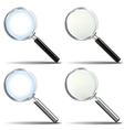Glossy Realistic Magnifying Glass set vector image