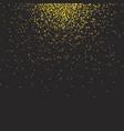 Gold glittering bokeh stars dust vector image