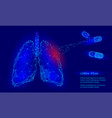 human internal organ lungs medicine treatment drug vector image