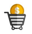 money cart object icon vector image
