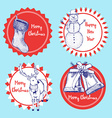 Sketch set of CHristmas labels vector image