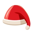 Christmas red hat with pompom of Santa Claus vector image