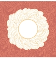 Gorgeous vintage lace-like paisley frame vector image