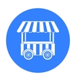 Snack cart icon in black style isolated on white vector image