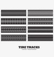 collection of eight tire tracks marks vector image