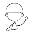 cute and little boy character vector image