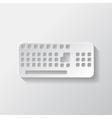 Computer keyboard web icon vector image