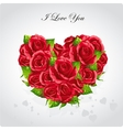 Heart of roses Valentines Day card vector image