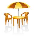 Cafe garden vector image