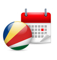 Icon of national day in seychelles vector image