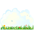Spring grass background vector image