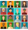 People avatar icons People Flat Icons vector image