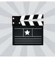 Black cinema clapper isolated vector image