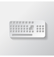 Computer keyboard web icon vector image