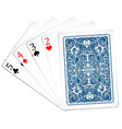 Five poker cards together vector image