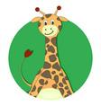 giraffe cartoon flat icon vector image