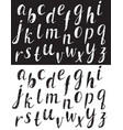 hand drawn comic font black and white vector image