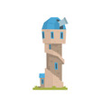 old stone observatory tower ancient architecture vector image