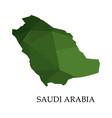 saudi arabia map on white background vector image