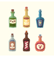 Set of bottles vector image