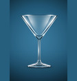 glass goblet for martini vector image vector image