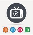 tv icon retro television sign vector image