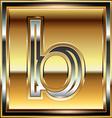 Ingot Font Letter b vector image
