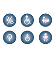 Restroom Male Female Baby Changing Sign vector image