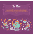 Elegant set of hand drawn tea and cakes banners vector image vector image
