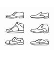 outline shoes icon set vector image