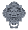 Lion head door knocker vector image