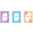 Photo frames with fairys vector image