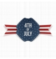 Independence Day 4th of July festive Label vector image
