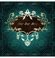 Elegant label in dark green vector image vector image