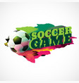 abstract football background with paint effect vector image
