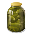 canned cucumbers vector image