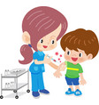 doctor woman doing vaccination vector image
