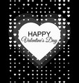happy valentines day 14 february halftone dotted vector image