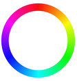 Isolated gradient rainbow ring color palette vector image
