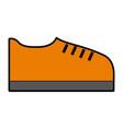orange shoe cartoon vector image