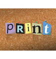 Print Concept vector image
