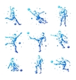Set of abstract football players Isolated vector image