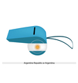 White and Light Blue Whistle of Argentina vector image
