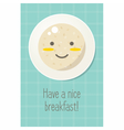 Smiling plate with oatmeal porridge Healthy food vector image
