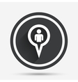 Map pointer user sign icon Marker symbol vector image