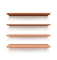 Empty wall book shelf wood shelves vector image