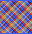 blue madras diagonal plaid pixeled seamless vector image vector image