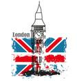 grunge banner - i love london vector image