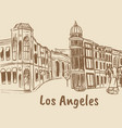 rodeo drive in los angeles vector image